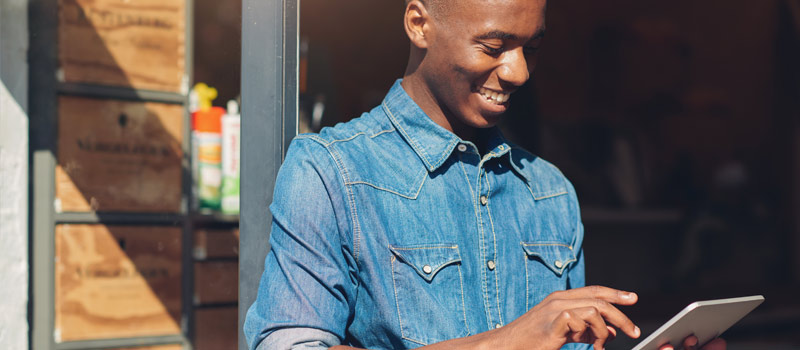 Using tablet over business internet hotspot