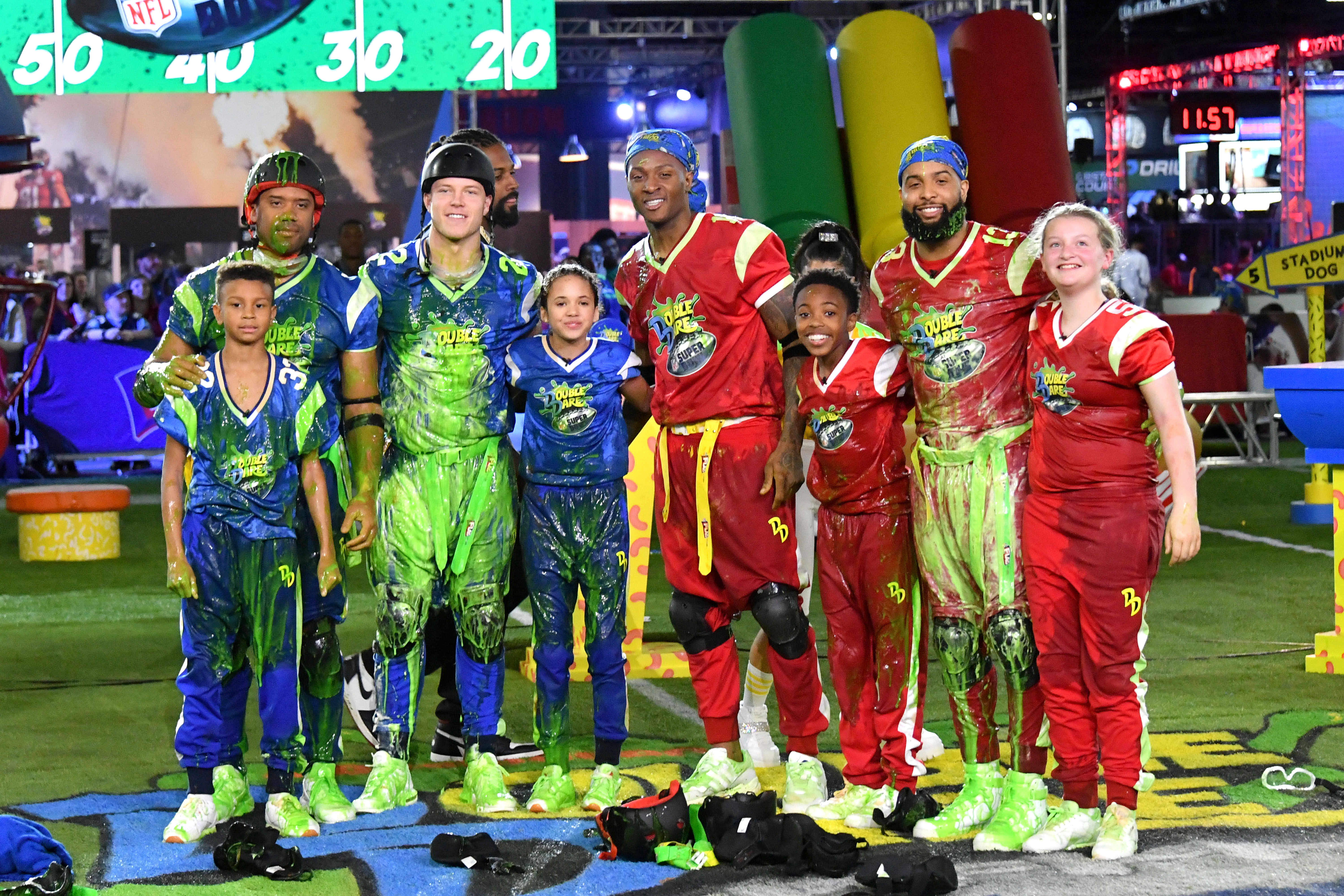 Nickelodeon's Double Dare at the Super Bowl