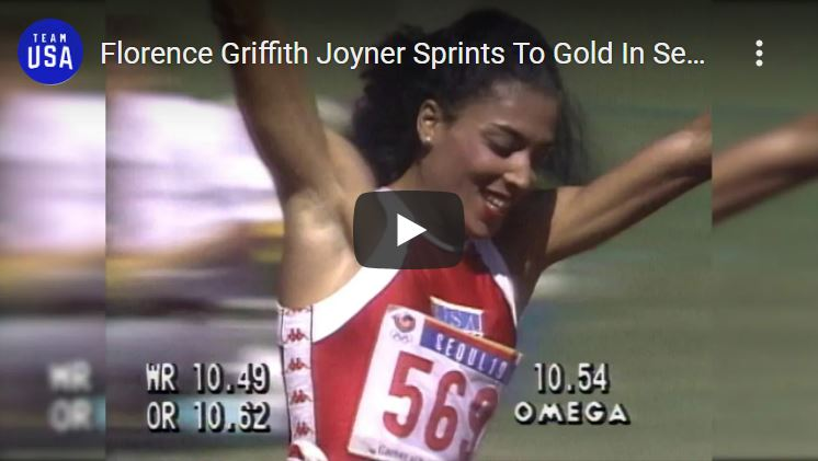 Click to watch Florence Griffith Joyner in Seoul
