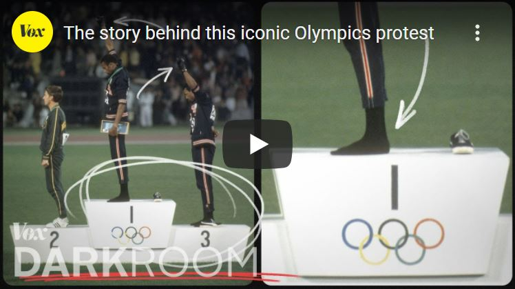 Click here to watch Tommie Smith and John Carlos in Mexico City
