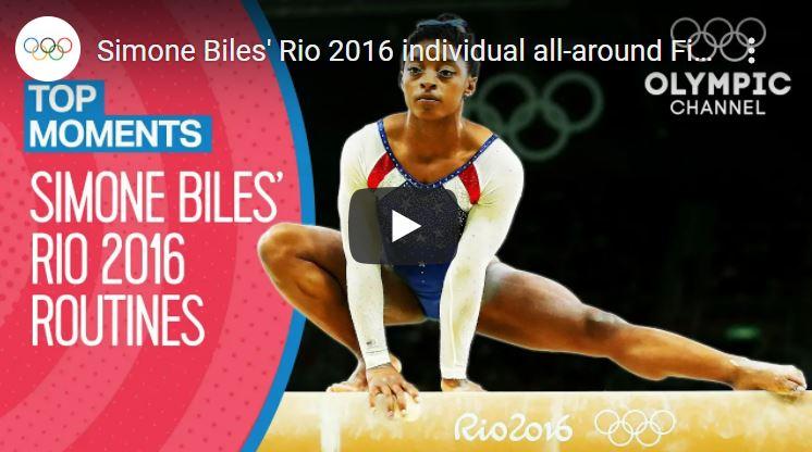 Click to watch Simone Biles in Rio