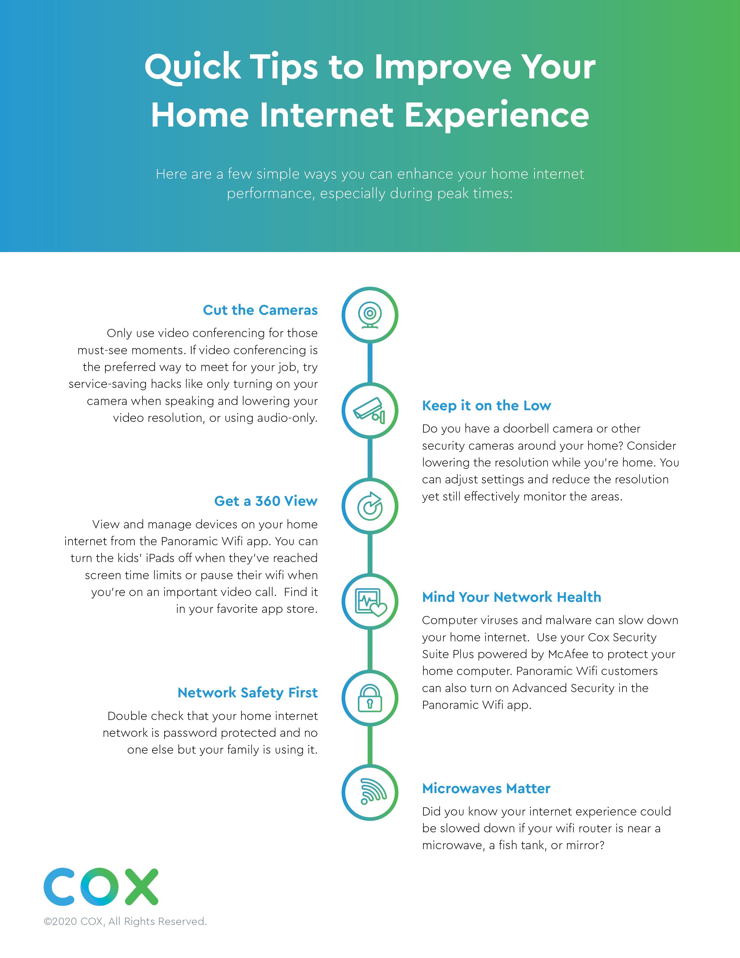 Cox Internet Tips Infographic