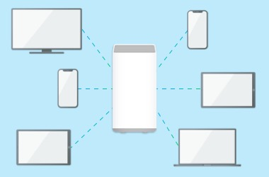 Illustration showing sharing connection