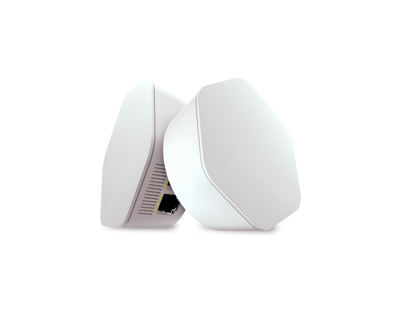 Panoramic Wifi Pod 2.0 equipment front, bottom and side view
