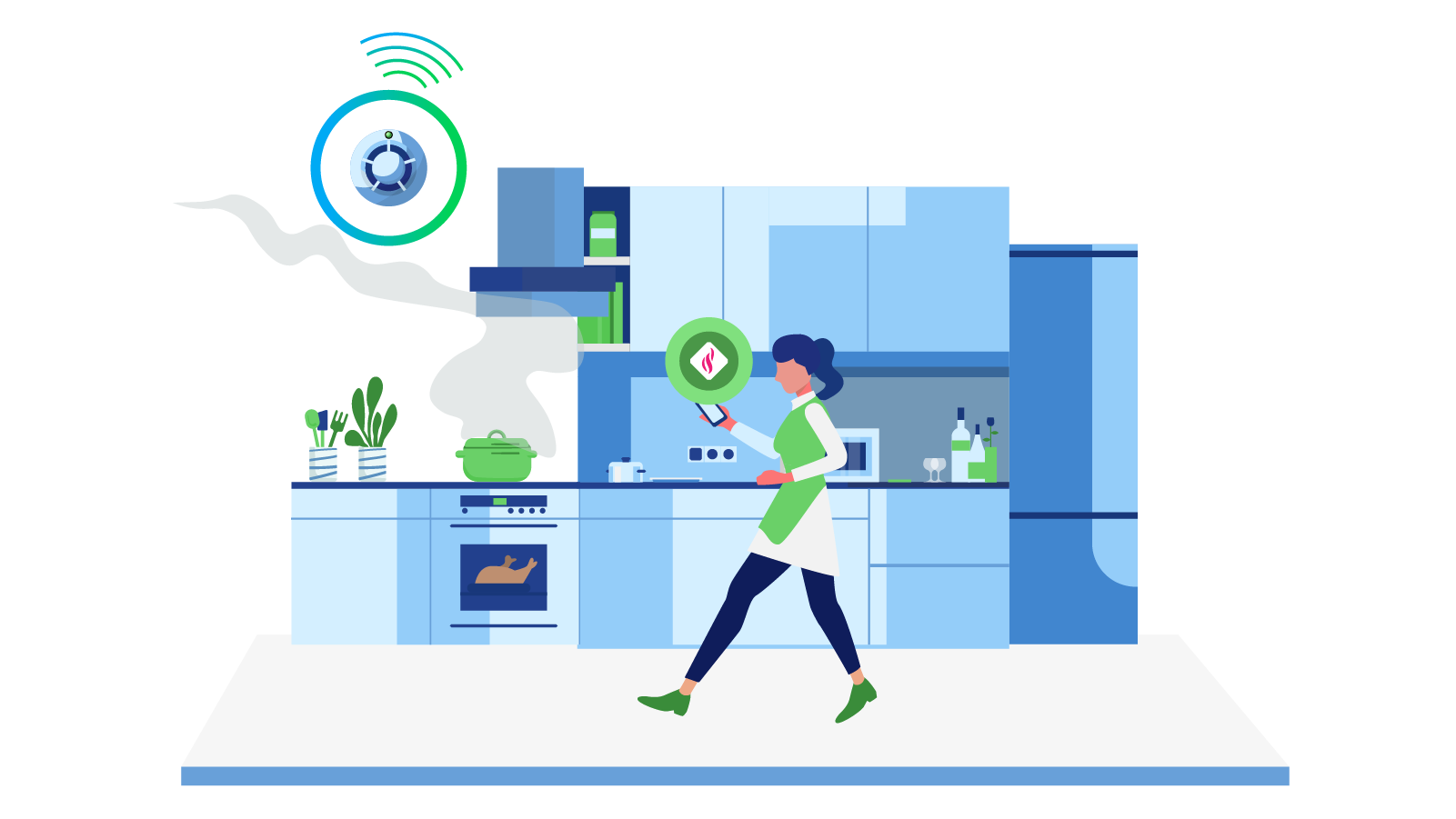 Get instant alerts when your smart sensors detect fire, smoke or leaks