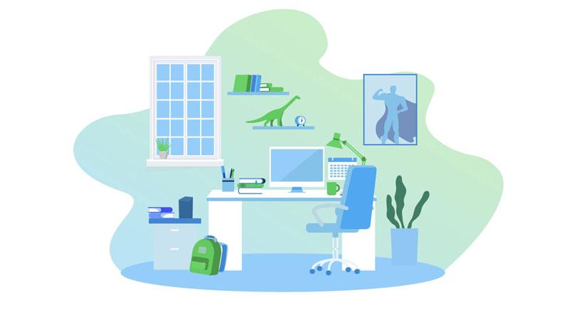 Create a designated study space