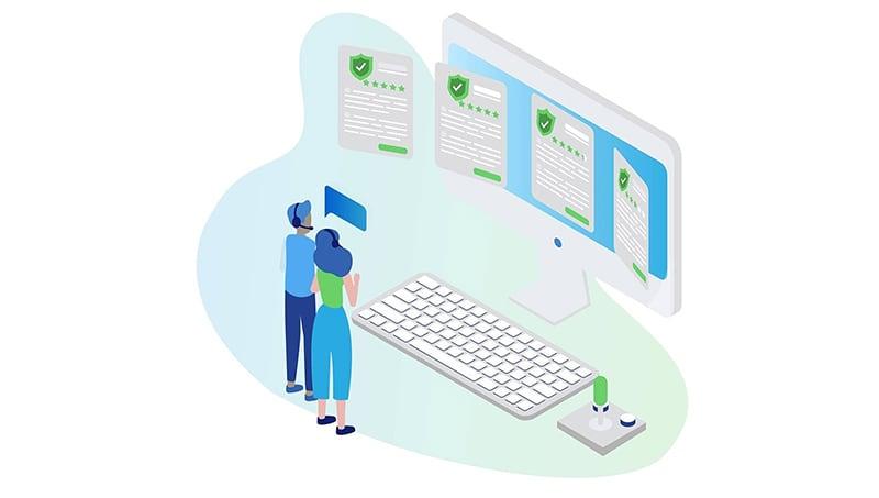 Couple choosing a gaming VPN