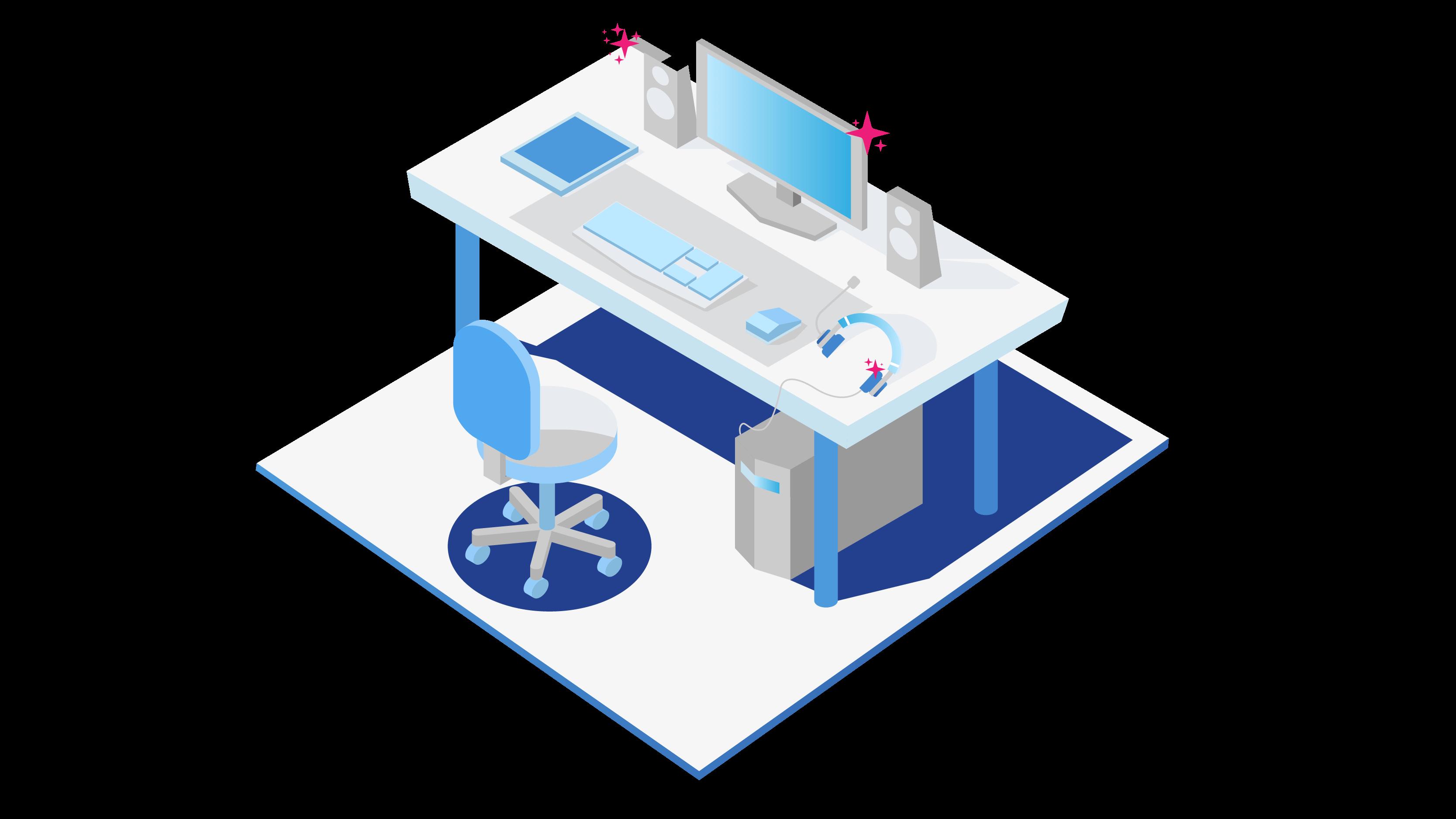 Optimized gaming computer setup
