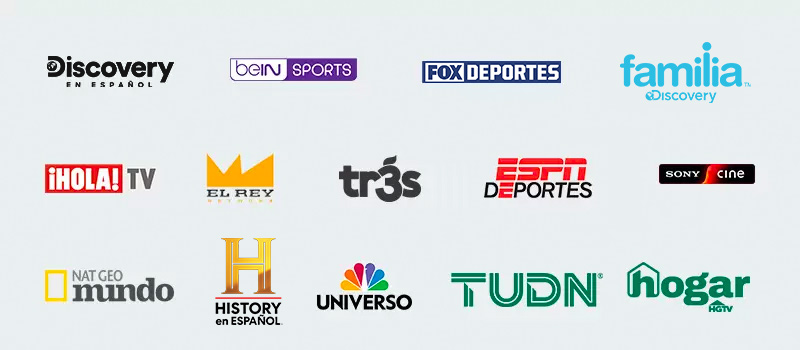Los canales del Latino pack incluyenbein Sports, Discovery en español, familia Discovery, Disney XD yEl Rey