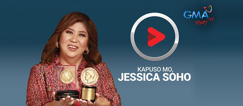 Mujer con premios en un canal internacional