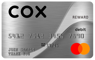 Muestra de la tarjeta prepagadaMastercardde Cox