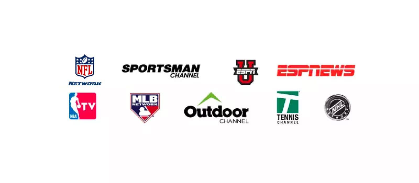 Logotipos de canales de deportes y paquetes de TV
