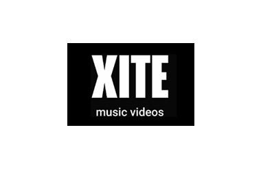 Xite music videos logo on black background