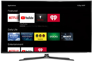 Image: Cox TV Contour 2 Apps on TV